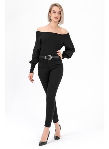 Tiffany&Tomato Yüksek Bel Skinny Jean Pantolon - Siyah Siyah